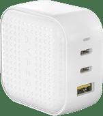 Hyper Ladegerät mit drei USB-Anschlüssen 65W Weiß