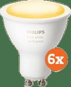 Philips Hue White Ambiance GU10 Bluetooth 6er-Pack