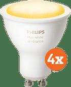 Philips Hue White Ambiance GU10 Bluetooth 4er-Pack