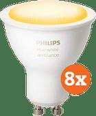 Philips Hue White Ambiance GU10 Bluetooth 8er-Pack
