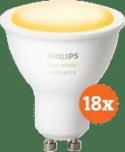 Philips Hue White Ambiance GU10 Bluetooth 18er-Pack