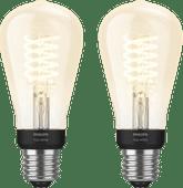 Philips Hue Filamentlampe White Edison E27 Bluetooth Duo Pack