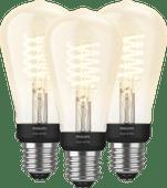 Philips Hue Filamentlampe White Edison E27 Bluetooth 3er-Pack