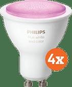 Philips Hue White & Color GU10 Bluetooth 4er-Pack