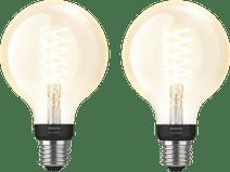Philips Hue Filamentlampe White Globe E27 Bluetooth Duo Pack