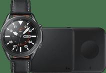 Samsung Galaxy Watch3 Schwarz 45 mm + Samsung Kabelloses Ladegerät DUO Pad 9W Schwarz