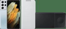 Starterpaket - Samsung Galaxy S21 Ultra 256 GB Silber 5G