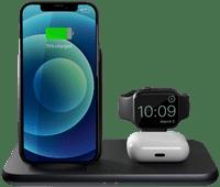 ZENS 4-in-1 Kabelloses Ladegerät 15 W mit Apple Watch Ständer Schwarz