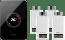 Bosch EasyControl CT200 Schwarz + 4x Bosch EasyControl Smart Radiator Thermostat RT10-RF