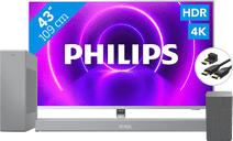 Philips 43PUS8505 + Soundbar + WLAN-Lautsprecher + HDMI-Kabel