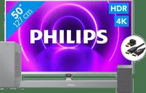 Philips 50PUS8505 + Soundbar + WLAN-Lautsprecher + HDMI-Kabel