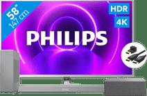 Philips 58PUS8505 + Soundbar + WLAN-Lautsprecher + HDMI-Kabel
