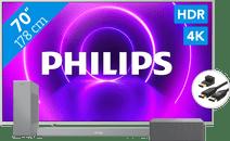 Philips 70PUS8505 + Soundbar + WLAN-Lautsprecher + HDMI-Kabel