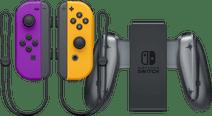 Nintendo Switch Joy-Con Set Neon Lila/Neon Orange + Nintendo Switch Joy-Con Charge Grip