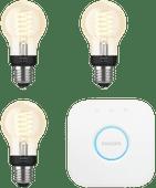 Philips Hue Filamentlampe White Standard E27 Bluetooth Starter-3er-Pack
