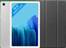 Samsung Galaxy Tab A7 64GB WLAN Silber + Just in Case Bookcase Schwarz