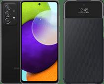 Samsung Galaxy A52 128 GB Schwarz 4G + Samsung Smart S View Wallet Cover Schwarz