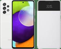 Samsung Galaxy A52 128 GB Weiß 4G + Samsung Smart S View Wallet Cover Weiß