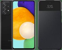 Samsung Galaxy A52 128 GB Schwarz 5G + Samsung Smart S View Wallet Cover Schwarz