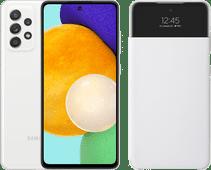 Samsung Galaxy A52 128 GB Weiß 5G + Samsung Smart S View Wallet Cover Weiß