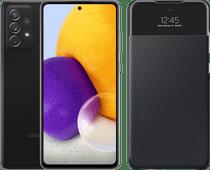 Samsung Galaxy A72 128 GB Schwarz + Samsung Smart S View Wallet Schwarz