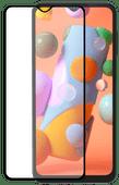 Azuri Tempered Glass Samsung Galaxy A12 Displayschutzfolie Rinox Armor Schwarz