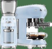 SMEG ECF01PBEU Pastellblau + Kaffeemühle