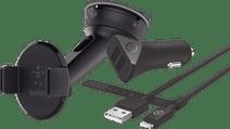 Belkin Universaler Autohalter Armaturenbrett/ Windschutzscheibe + BlueBuilt Autoladegerät