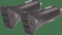 BlueBuilt Autoladegerät ohne Kabel 2 USB-Anschlüsse 12 W Duo-Pack