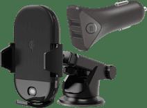 Veripart Universal-Telefonhalter mit kabellosem Laden + BlueBuilt Autoladegerät