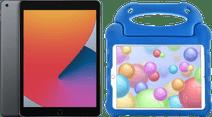 Apple iPad (2020) 10.2 Zoll 32 GB Space Grau + Kinderhülle Blau