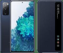 Samsung Galaxy S20 FE 128 GB Blau 4G + Clear View Bookcase Blau