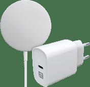 Apple MagSafe Kabelloses Ladegerät 15 W + XtremeMac-Ladegerät 20 W.