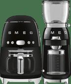 SMEG DCF02BLEU Schwarz + Kaffeemühle