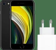 Apple iPhone SE 64 GB Schwarz + Apple USB-C-Ladegerät 20 W