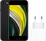 Apple iPhone SE 128 GB Schwarz + Apple USB-C-Ladegerät 20 W