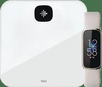 Fitbit Luxe Weiß + Fitbit Aria Air Weiß