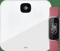 Fitbit Luxe Rosa + Fitbit Aria Air Weiß