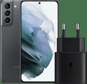 Samsung Galaxy S21 256 GB Grau 5G + Samsung Schnelladegerät ohne Kabel 25 W