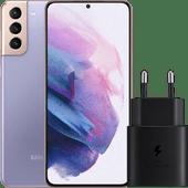 Samsung Galaxy S21 Plus 256 GB Lila 5G + Samsung Schnellladegerät ohne Kabel 25 W