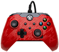 Verkabelter PDP Controller Xbox Series X und Xbox One Rot