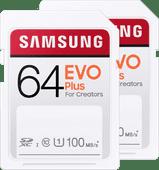 Samsung SD Card EVO Plus 64 GB Duo Pack