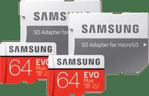 Samsung microSDXC EVO Plus 64 GB + SD Adapter Duo Pack