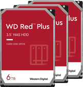 WD Red Plus WD60EFZX 6 TB 3-Pack