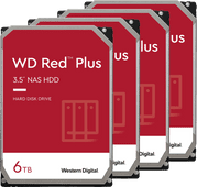 WD Red Plus WD60EFZX 6 TB 4-Pack