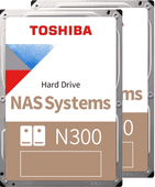 Toshiba N300 NAS Hard Drive 8 TB (256 MB) Duo Pack