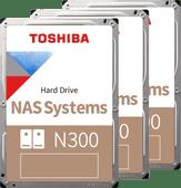 Toshiba N300 NAS Hard Drive 8 TB (256 MB) 3-Pack