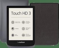 Pocketbook Touch HD 3 Grau + PocketBook Shell Book Case Schwarz