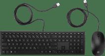HP Pavilion 400 Tastatur mit Kabel und Maus QWERTZ