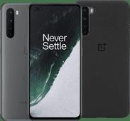 OnePlus Nord 256 GB Hellgrau 5G + OnePlus Nord Sandstone Back Cover Schwarz